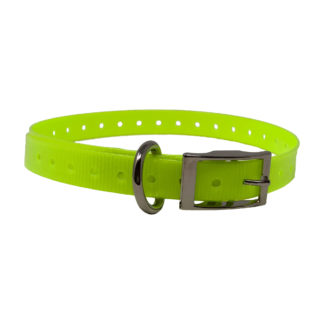"The Buzzard's Roost Replacement Collar Strap 3/4"" Neon Yellow 3/4"" x 24"""