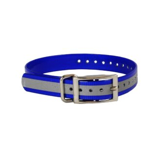 "The Buzzard's Roost Reflective Collar Strap 1"" Blue 1"" x 24"""