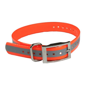 "The Buzzard's Roost Reflective Collar Strap 1"" Orange 1"" x 24"""