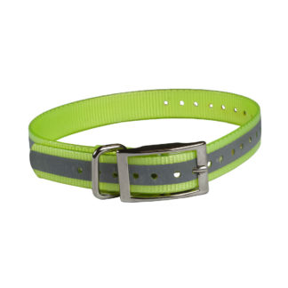 "The Buzzard's Roost Reflective Collar Strap 1"" Yellow 1"" x 24"""
