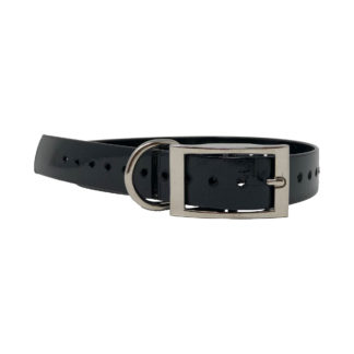 "The Buzzard's Roost Replacement Collar Strap 1"" Black 1"" x 24"""