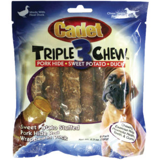 Cadet Triple Chew Treat Duck and Sweet Potato 6 pack