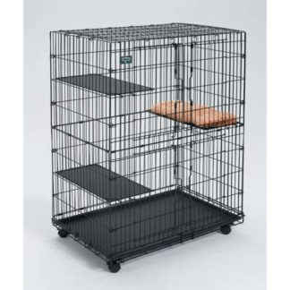 "Midwest Collapsible Cat Playpen Black 36"" x 23.5"" x 50.5"""