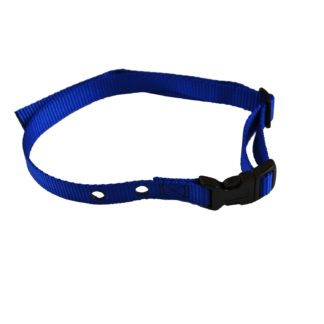 "Custom Collars Adjustable Quick Release Nylon Replacement Collar Strap Blue 24"" x 0.75"" x 0.1"""