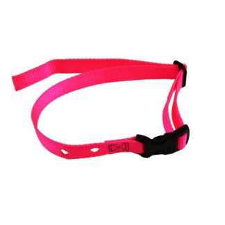 "Custom Collars Adjustable Quick Release Nylon Replacement Collar Strap Pink 24"" x 0.75"" x 0.1"""
