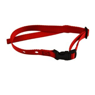 "Custom Collars Adjustable Quick Release Nylon Replacement Collar Strap Red 24"" x 0.75"" x 0.1"""