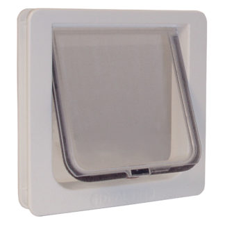 "Ideal Pet Products Lockable Cat Flap Door Small White 1.625"" x 8.18"" x 7.94"""