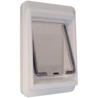 "Ideal Pet Products e-Cat Electromagnetic Cat Door Medium White 4.25"" x 9.25"" x 14.56"""