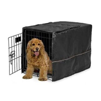 "Midwest Quiet Time Pet Crate Cover Black 30.5"" x 20"" x 20.5"""