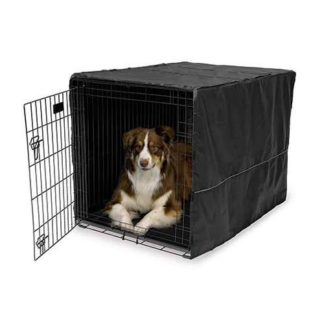 "Midwest Quiet Time Pet Crate Cover Black 43"" x 30"" x 30"""