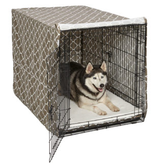 "Midwest QuietTime Defender Covella Dog Crate Cover Brown 42"" x 28"" x 30"""