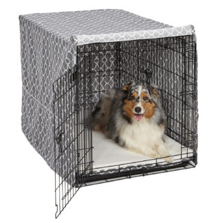 "Midwest QuietTime Defender Covella Dog Crate Cover Gray 48"" x 30"" x 33"""