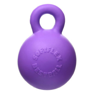 "Hueter Toledo Soft Flex Gripper Ball Dog Toy Purple 4.5"" x 4.5"" x 6"""