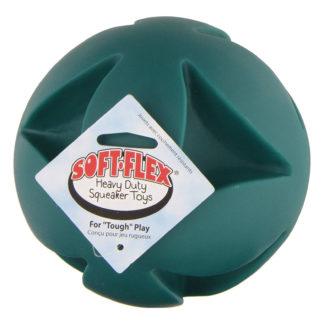 """Hueter Toledo Soft Flex Best Clutch Ball Dog Toy Teal 6"""" x 6"""" x 6"""""""