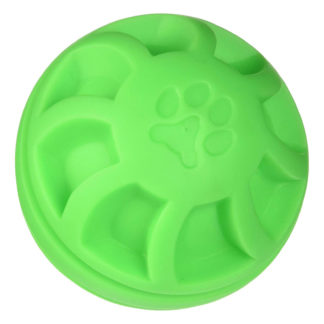 "Hueter Toledo Soft Flex Swirel Ball Dog Toy Green 4"" x 4"" x 4"""