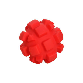 "Hueter Toledo Soft Flex Bumby Ball Dog Toy Red 4"" x 4"" x 4"""