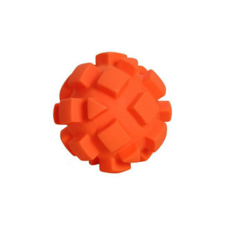 "Hueter Toledo Soft Flex Bumby Ball Dog Toy Orange 5.5"" x 5.5"" x 5.5"""