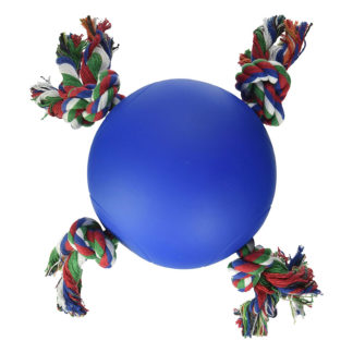 "Hueter Toledo Soft Flex The Tuggy Dog Toy Blue 6.5"" x 6.5"" x 5.5"""