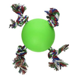 "Hueter Toledo Soft Flex The Tuggy Dog Toy Green 5"" x 5"" x 3.5"""