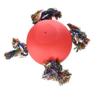 "Hueter Toledo Soft Flex The Tuggy Dog Toy Red 8.5"" x 8.5"" x 6.5"""