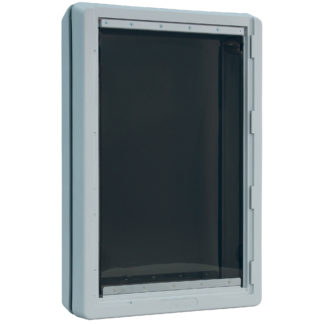 "Ideal Pet Products Ruff-Weather Pet Door Super Large Grey 5.75"" x 19"" x 28.12"""