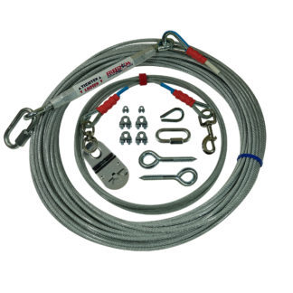Freedom Aerial Dog Runs for Two Tree Applications 100 FT Aerial Cable 20 FT Lead Line SD