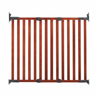 """Kidco Angle Mount Wood Safeway Wall Mounted Pet Gate Cherry 28.5"""" - 43"""" x 31"""""""