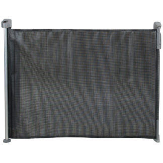 "Kidco Retractable Safeway Mesh Mounted Gate Black 55"" x 1"" x 33.5"""