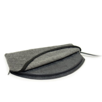 K&H Pet Products Deluxe Igloo Style Heated Pad Cover Small Gray