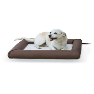 "K&H Pet Products Deluxe Lectro-Soft Outdoor Heated Pet Bed Small Brown 19.5"" x 23"" x 2.5"""