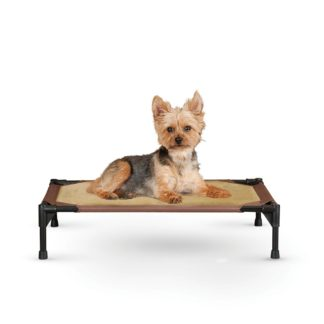 "K&H Pet Products Comfy Pet Cot Tan/Mocha 17"" x 22"" x 7"""