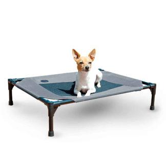 "K&H Pet Products Original Pet Cot Medium Gray 25"" x 32"" x 7"""