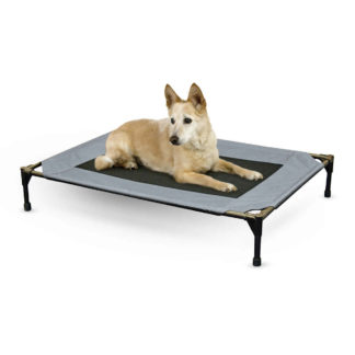 "K&H Pet Products Original Pet Cot Large Gray 30"" x 42"" x 7"""