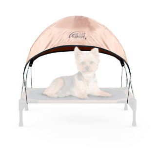 "K&H Pet Products Pet Cot Canopy Small Tan 17"" x 22"" x 16"""