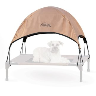 "K&H Pet Products Pet Cot Canopy Medium Tan 25"" x 32"" x 23"""