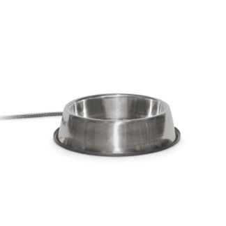 """K&H Pet Products Pet Thermal Bowl Stainless Steel 13"""" x 13"""" x 3.5"""""""