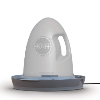 """K&H Pet Products Poultry Waterer Heated 2.5 gallon Gray 16"""" x 16"""" x 15"""""""