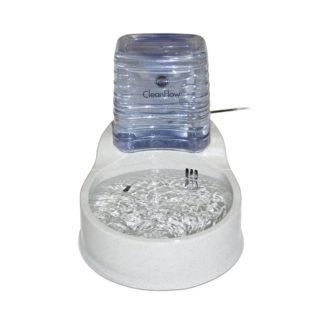 """K&H Pet Products Clean Flow Pet Bowl with Reservoir Medium Beige 14"""" x 11.25"""" x 12.5"""""""