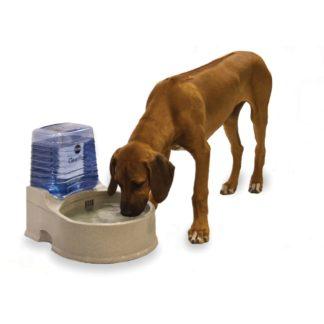 """K&H Pet Products Clean Flow Pet Bowl with Reservoir Large Beige 16.5"""" x 13.25"""" x 14.5"""""""