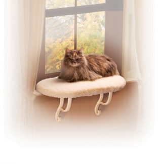 "K&H Pet Products Kitty Sill Unheated White 14"" x 24"" x 9"""