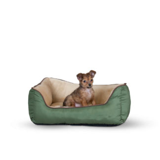 "K&H Pet Products Lounge Sleeper Self-Warming Pet Bed Sage / Tan 16"" x 20"" x 6"""