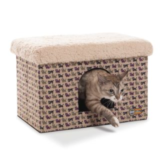 "K&H Pet Products Kitty Bunkhouse Tan 12"" x 18"" x 12"""
