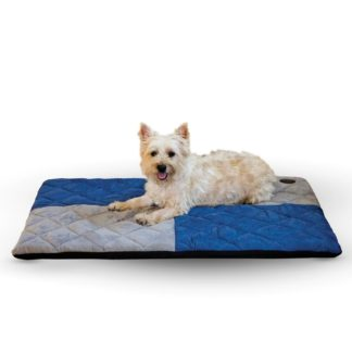 "K&H Pet Products Quilted Memory Dream Pad 0.5"" Small Blue / Gray 19.5"" x 25"" x 0.5"""