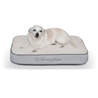 """K&H Pet Products Memory Sleeper Pet Bed Gray 18"""" x 26"""" x 3.75"""""""