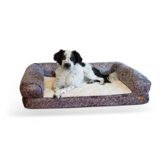 "K&H Pet Products Bomber Memory Dog Sofa Large Gray 30"" x 41"" x 9"""