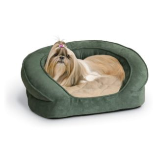 "K&H Pet Products Deluxe Ortho Bolster Sleeper Pet Bed Large Green 40"" x 33"" x 9.5"""