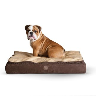 "K&H Pet Products Feather Top Ortho Pet Bed Large Chocolate / Tan 40"" x 50"" x 6.5"""