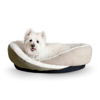 "K&H Pet Products Huggy Nest Pet Bed Medium Green / Tan 28"" x 24"" x 7"""