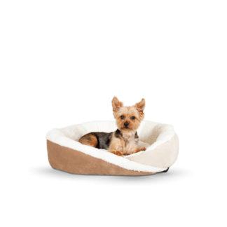 "K&H Pet Products Huggy Nest Pet Bed Large Tan / Caramel 36"" x 30"" x 8"""