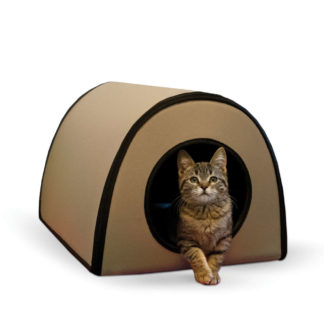 "K&H Pet Products Mod Thermo-Kitty Shelter Tan 15"" x 21.5"" x 13"""